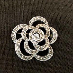 Jewelry - Sterling silver/marcasite Brooch